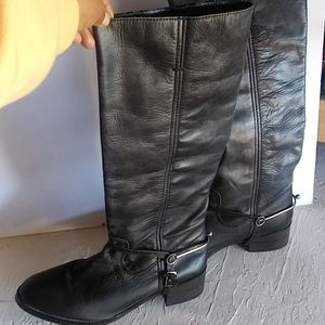 Ecote leather riding knee boots